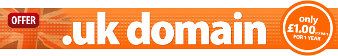 .uk domain names from only �1 for 1 year