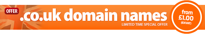 .co.uk domain names from £1.00
