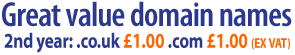 The UK's best value domains