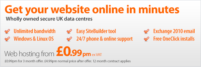 Get your website online in minutes